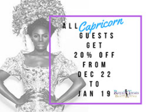 All Capricorn Guest Get 20% Off From Dec 22 To Jan 19